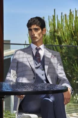 trajes de novio gris en cuadros
