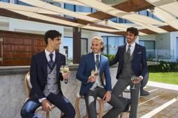 trajes de novio para eventos formales en azul